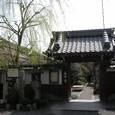 義仲寺の門