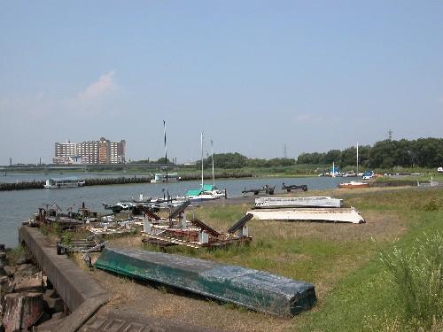 矢橋帰帆の今の岸辺