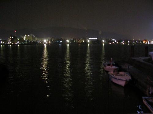 夜の 琵琶湖