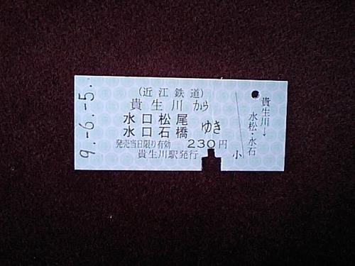 これが正しい切符だ