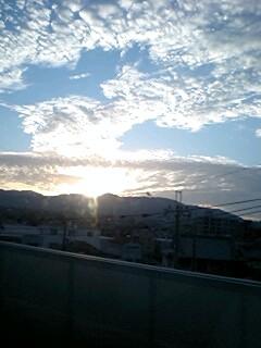 京都の夕陽