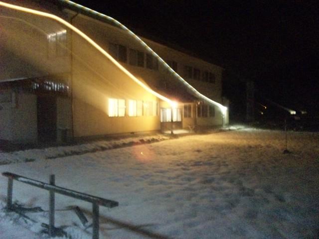 お宿は雪景色