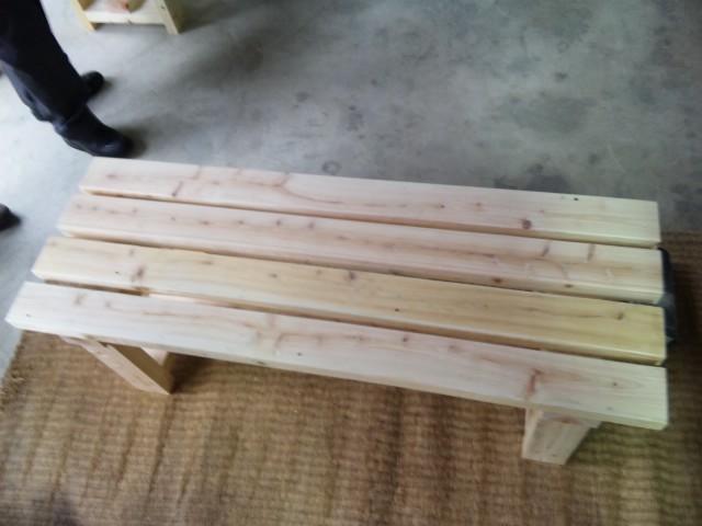 ベンチを作った!