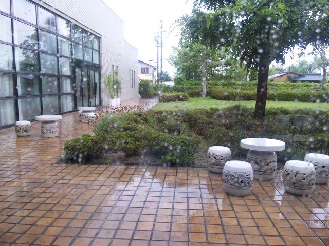 近江八幡は雨