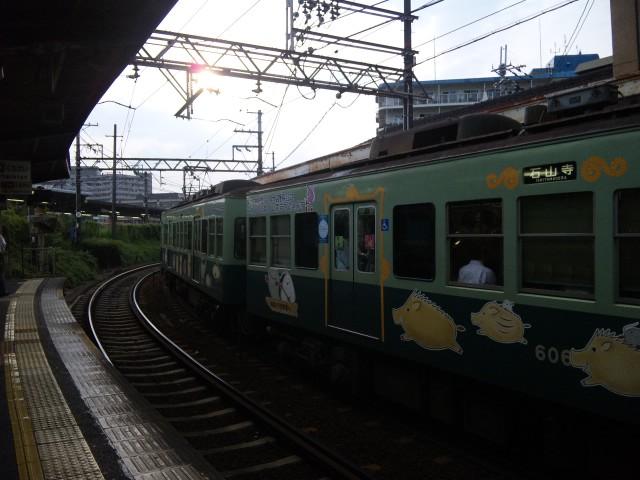 埋蔵文化財ラッピング電車