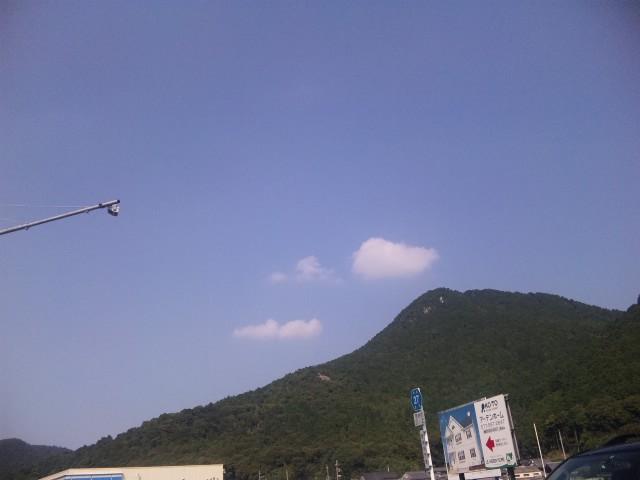 真夏の三上山