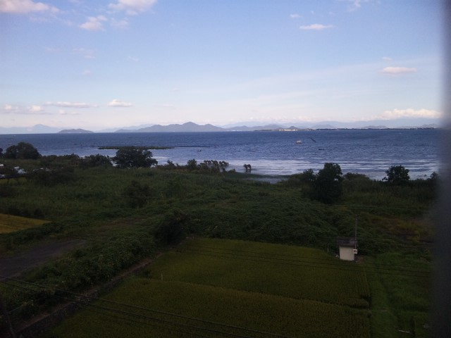 夏の琵琶湖