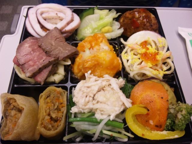 夕食は新幹線にて