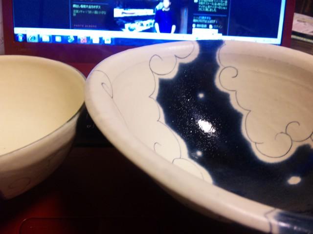 安見さんの鉢と茶碗