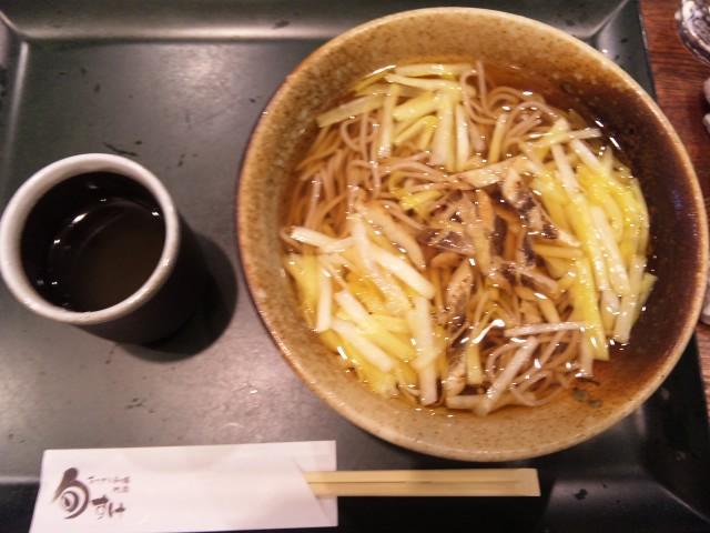 黄ニラ蕎麦