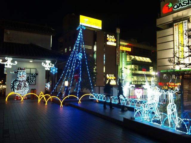 草津駅前イルミネーション