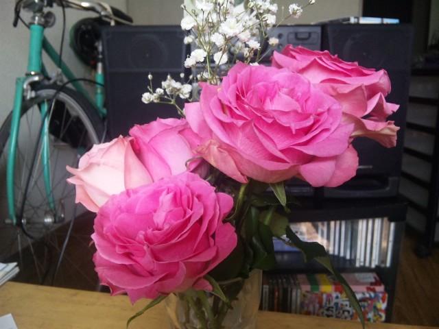 バラを飾る