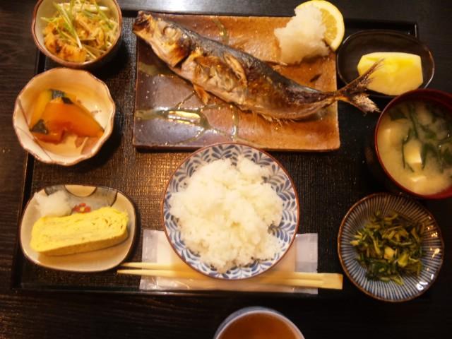 焼き鯵定食