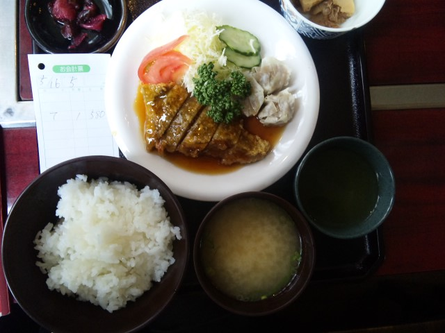 白身魚の甘酢あんかけランチ
