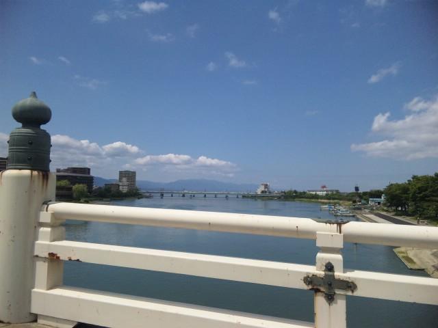 唐橋から夏琵琶湖
