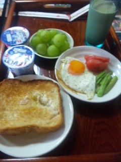 朝食はトースト