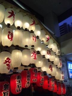 大津駅に大津祭りの飾り