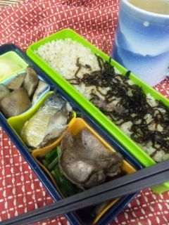 牛タンと鯖の燻製弁当