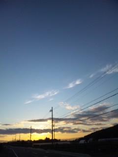 近江冨士の夕焼け