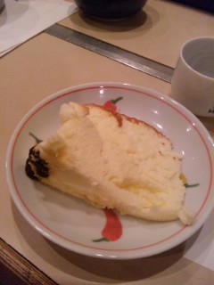 「モンスーン」とチーズケーキ