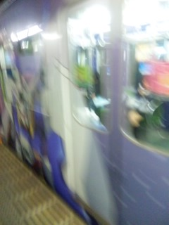 帰りの電車がガンダムだった