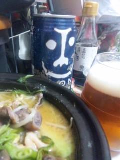 栗東浪漫卵の鶏野菜味噌鍋と、インドの青鬼