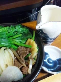 肉じゃがと「花嵐」純米大吟醸2011生原酒