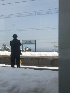 湖西線は雪景色