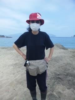 海岸清掃の正装