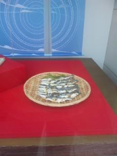 工芸和菓子 枇杷と鮎の塩焼き