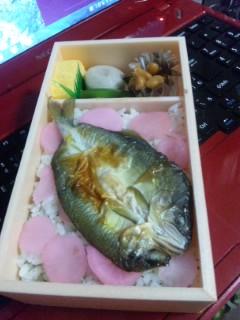 氷魚と鮎一夜干し弁当