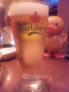 ビールと威張ったあひる