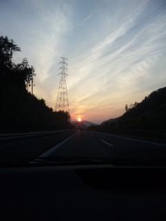 信楽の夕景