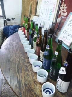 昨日は上原酒造でお酒選び