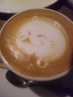 バリスタに描いてもらった猫
