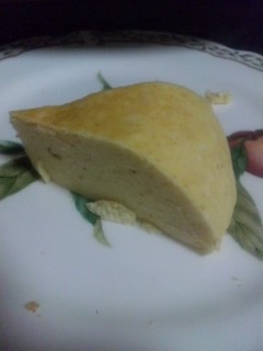 焼き上がりのチーズケーキ