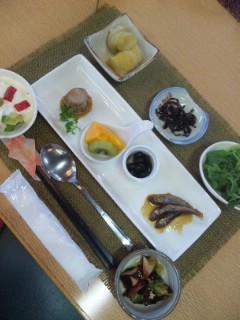 ウッディパル余呉の昼食