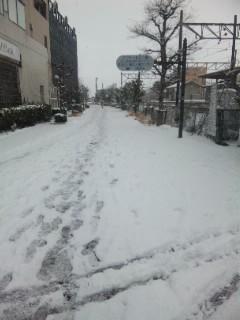 近江八幡は雪です