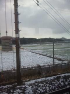 野洲、篠原は白い世界