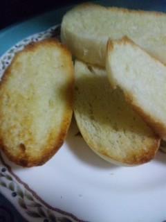 手作り食パンをトースト