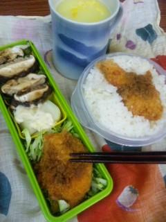カツと椎茸お弁当
