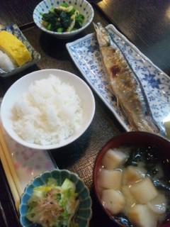 からっ風秋刀魚焼き定食