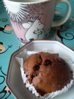 手作りチョコカップケーキ
