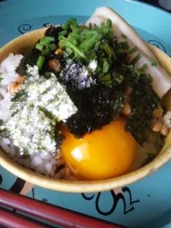 モーニング納豆卵かけご飯
