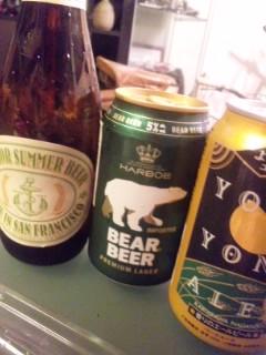 夕食は猫とビール