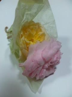 食べられるバラ