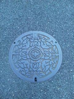 茨木市マンホールのフタはバラ