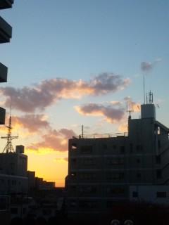 茨木の夕焼け