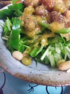 甲子柿ドレッシングで豆サラダ