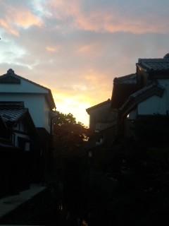 長浜の夕空
